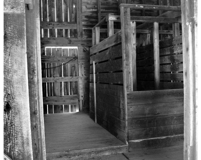 Batsto Livestock Barn Interior 1