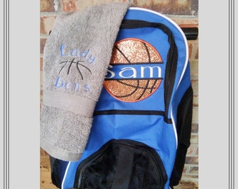 4341d9389 Free Shipping/Personalized/ Soccer/Volleyball/Basketball Backpack/Boys/  Girls/ Sports Bag/monogrammed bag/