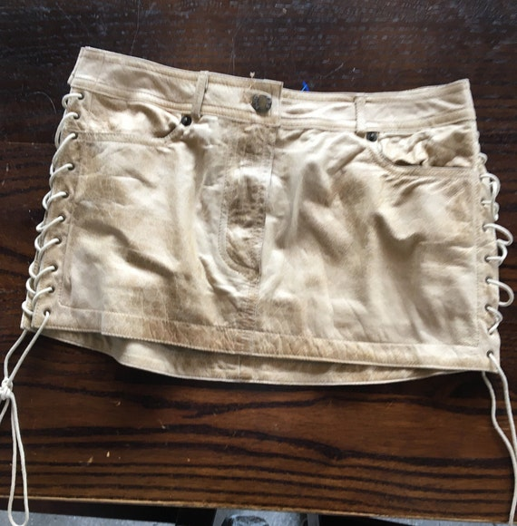 Plein Sud soft leather mini skirt