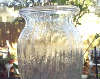 "SALE PRICE Vintage Crystal Glass Vase Cylinder 10"" tall"