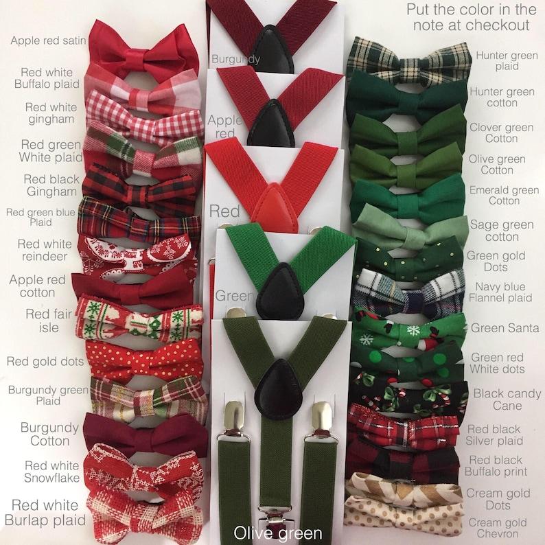 cd3ee5254514 Christmas Bow tie Burgundy Bow tie Suspenders Maroon Rustic | Etsy