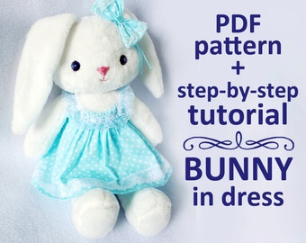 PDF pattern and tutorial Bunny in dress