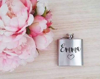 Personalised hip flask, hip flask personalised, personalised flask, flasks , pocket flask, etched flask, engraved flask, groomsmen gift