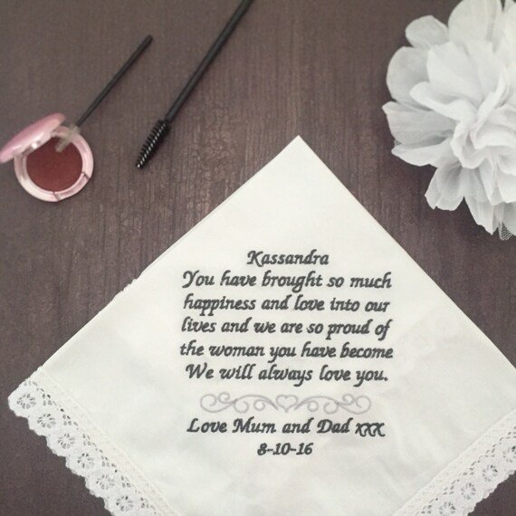Personalised Handkerchief Make Beautiful Wedding Gift And Etsy