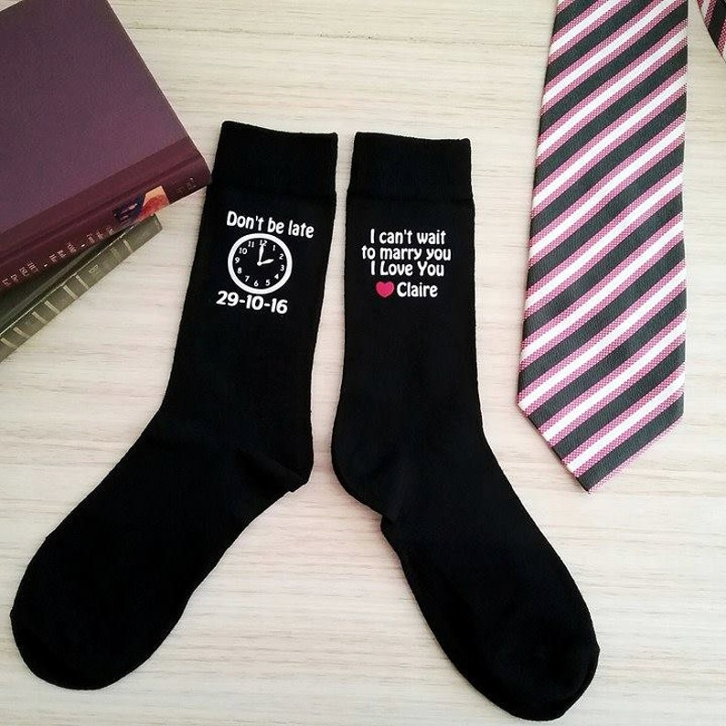 Fun Gift Present Wedding Socks for the Groom /'So You Don/'t Get Cold Feet/'