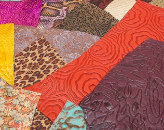 Embossed Scrap Leather Pieces. Assorted Leather. Assorted Printed Leather  1lb Bag 4cc0cf23b5ca5