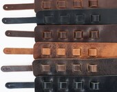 SLC Leather Guitar Strap, Matte Brown, Matte Black, Glossy Black, Vintage Chocolate, Antique Mahogany, Vintage Tan, Sling,