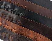 S-Curved Leather Guitar Strap, Matte Brown, Matte Black, Glossy Black, Vintage Chocolate, Antique Mahogany, Vintage Tan, Sling