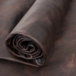 Springfield Leather Company Chocolate Distressed Pull Up Upholstery Leather By the Sqft