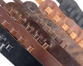 Classic Leather Guitar Strap, Matte Brown, Matte Black, Glossy Black, Vintage Chocolate, Antique Mahogany, Vintage Tan, Guitar Sling