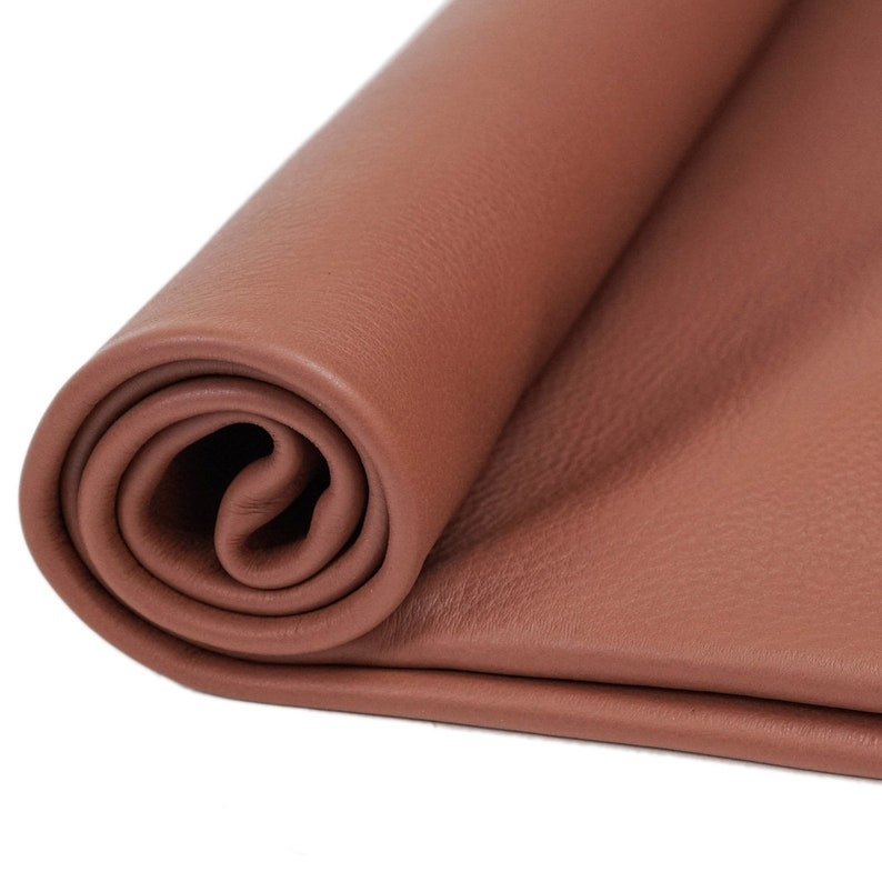12 x 24 Springfield Leather Company Whiskey Cowhide Upholstery Leather Pre-Cuts 12 x 12
