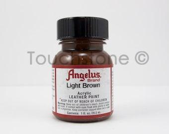 Light Brown Angelus Acrylic Leather Paint 1oz