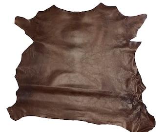 SLC Rust Grenada Goat Hide Kidskin Leather 4-6 SqFt