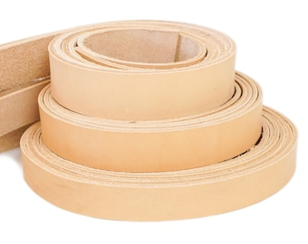 """Vegetable Tanned Leather, Import Tooling Belt Strips, 1/2"""", 3/4"""", 1"""", 1-1/4"""", 1-1/2"""", 2"""",  50"""" Long Straps and Harness."""
