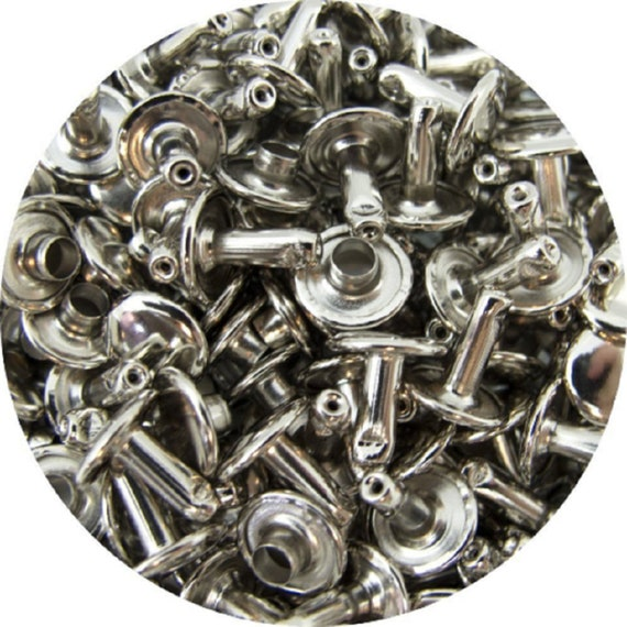 Springfield Leather Companys Nickel Plate Medium Double Cap Rivets 50pk