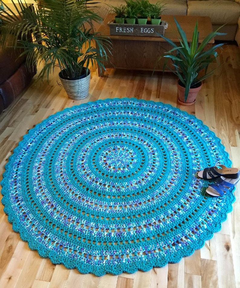 Giant Crochet Doily Rug Giant Cotton Rug Mandala Rug Etsy