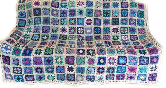 Peachy Crochet Afghan Crochet Blanket King Size Handmade Blanket Granny Square Afghan Grey Blanket Lavender Blanket Blue Blanket Made To Order Ncnpc Chair Design For Home Ncnpcorg