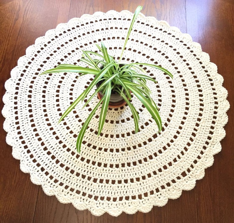 Giant Doily Crochet Table Cloth Crochet Mandala Cotton Doily Handmade Table Cloth Table Cover 24 Or 30 Inches MADE TO ORDER