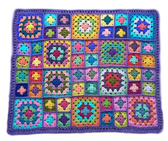 Häkeln Baby Decke Häkeln Baby Afghan Handgemachte Oma Quadrat Etsy