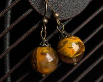 Fire Quartz Earrings