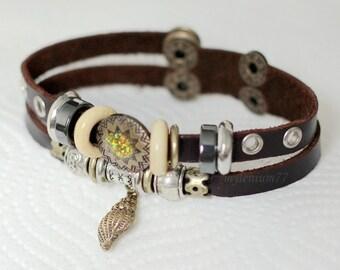198 Women bracelet Girls bracelet Leather bracelet Sea shell bracelet Charm bracelet Beads bracelet Rings bracelet Fashion bracelet