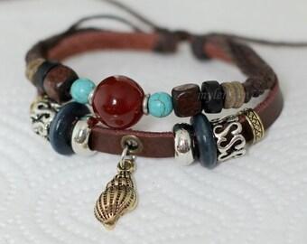 174 Women bracelet Girls bracelet Leather bracelet Sea shell bracelet Charm bracelet Beads bracelet Rings bracelet Fashion bracelet