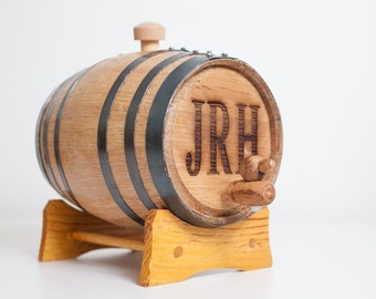 Engraved 2 Liter Mini Whiskey Barrel for groomsmen gifts