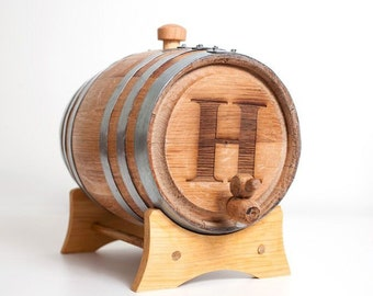 3 Liter Engraved Bourbon Barrel: great gift for men