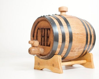 1 Liter Personalized Mini Whiskey Barrel