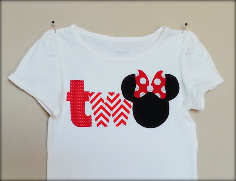MINNIE MOUSE Birthday Age Shirt Retro Reds