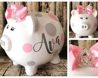 Girl Piggy Bank Etsy