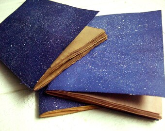 Cosmos - Jotter, Pocket Notebook, Mini Journal with antique paper