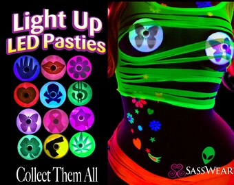 Light Up LED Pasties Collection and Info