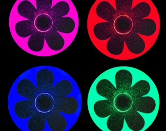 Daisy Carnival Costume-Light Up LED Daisy Nipple Pasties-EDC Costume-Bright LED's-Reusable, Rave Clothes
