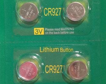 Four Batteries- CR927, DL927, DL927B, BR927, BR927-1W, CR279-1W, LM927, 5011LC, ECR927, KCR927