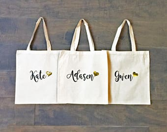 canvas tote bag custom tote bag personalized gift etsy