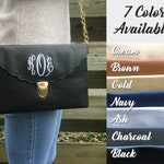 ENVELOPE CLUTCH BAG - Christmas Gift - Personalized Clutch - Bridesmaid Clutch - Monogrammed Clutch - Personalized Bag - Leather Clutch Bag