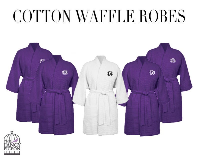 Plum Cotton Robes Personalized Robe Bridal Party Robes Bridesmaids Robes Maid Of Honor Robe Bridesmaid Robe Set Dressing Gowns
