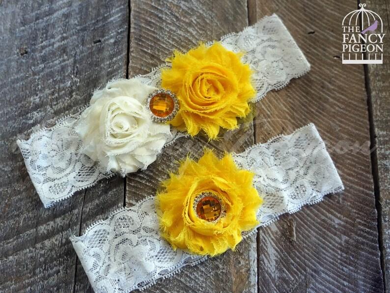 a0d22ea3f9 YELLOW BRIDAL GARTER Crystal Garter Belt Jeweled Garter | Etsy