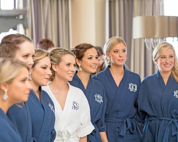 50% price best wholesaler drop shipping MONOGRAMMED ROBES - Navy Cotton Bridesmaid Robes - Bridesmaid Gift - Bridal  Party Robe - Getting Ready Robes - Bridesmaid Robe Set - Kimono