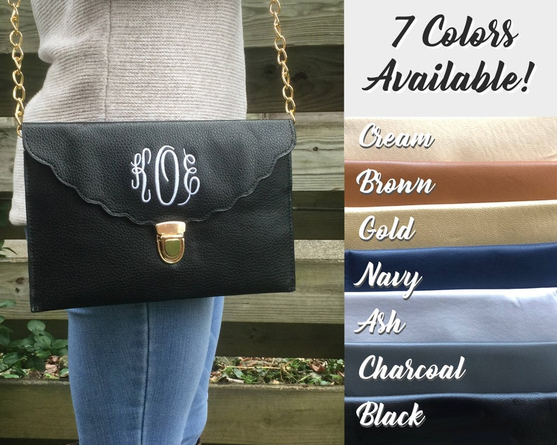 ENVELOPE CLUTCH BAG  Christmas Gift  Personalized Clutch  image 0