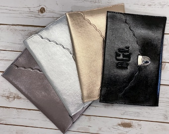 ENVELOPE CLUTCH BAG - Vegan Leather Bag - Christmas Gift - Personalized Clutch - Bridesmaid Clutch - Monogrammed Clutch - Personalized Bag