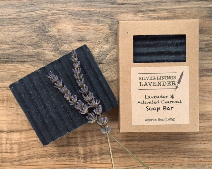 Lavender & Activated Charcoal Soap Bar