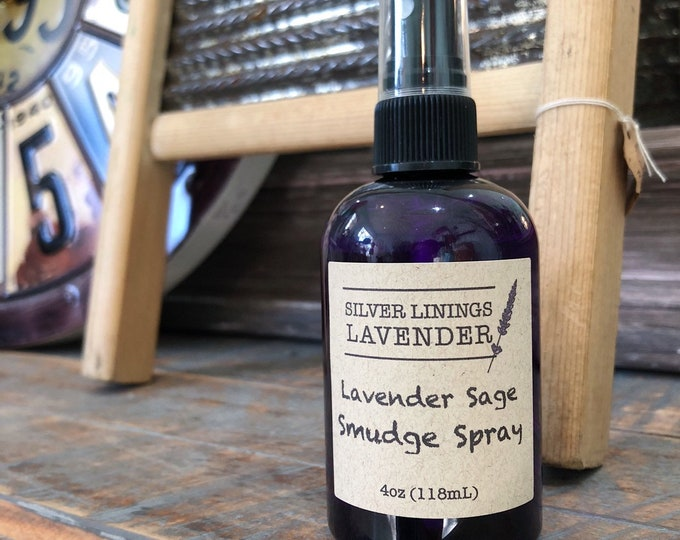 Lavender & White Sage Smudge Spray with Amethyst Crystals