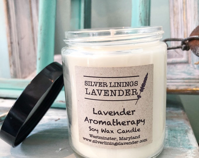 Lavender Essential Oil Candle - 8oz