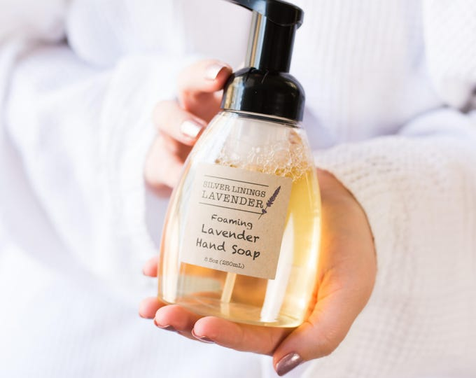 Natural Foaming Hand Soap with Lavender Essential Oil