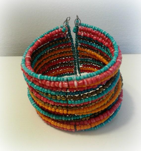 Rainbow Cuff Bracelet - image 1