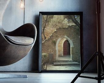Historic Arches - Castelo de Sao Jorge, Lisbon, Portugal, Lisboa, travel photography, landmark, Europe vacation - photo print and canvas
