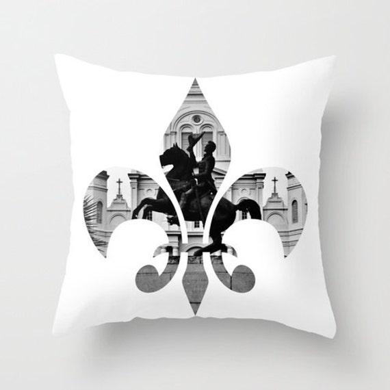 New Orleans Fleur De Lis Pillow Home Decor Cushion Fine Art Etsy