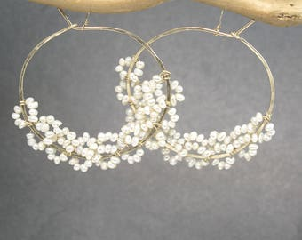 Hoops wrapped with tiny seed pearls Cleopatra 118